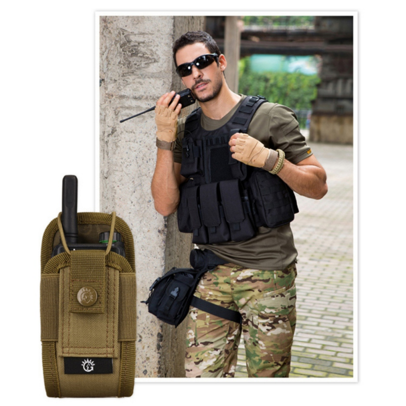 Military Airsoft Tactical Molle Radio Pouch Walkie Talkie Wasit Bag Hunting Mag Packs image