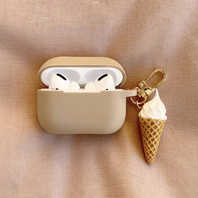 fundas For AirPods 1 2 Case Cute Cute Palette Ice Cream Pendant keyring Headphone Case For Airpods 3 Pro Silicone Earphone Cover 4