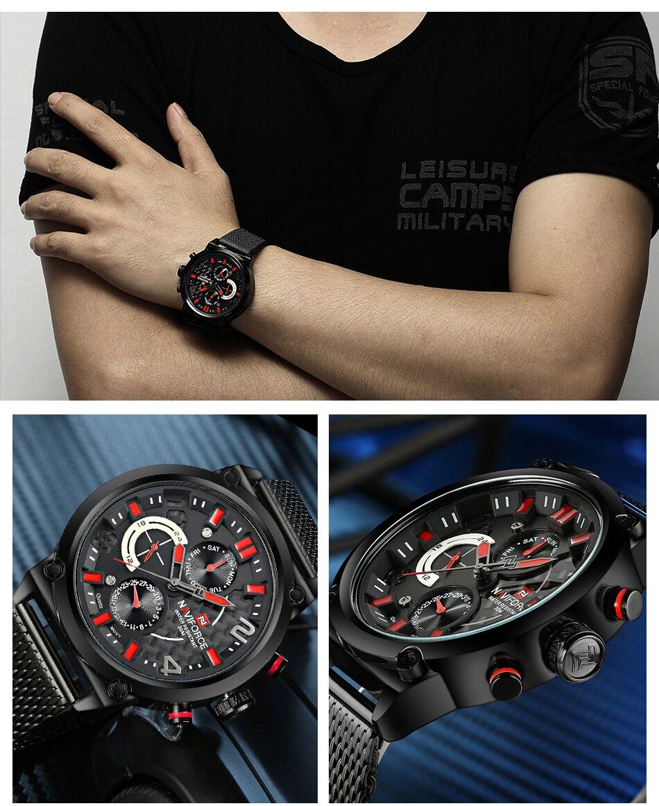 NAVIFORCE NF9068S Men's Waterproof Sport Watch H30e659fdc04b4db485bbebdbd1a50c85E