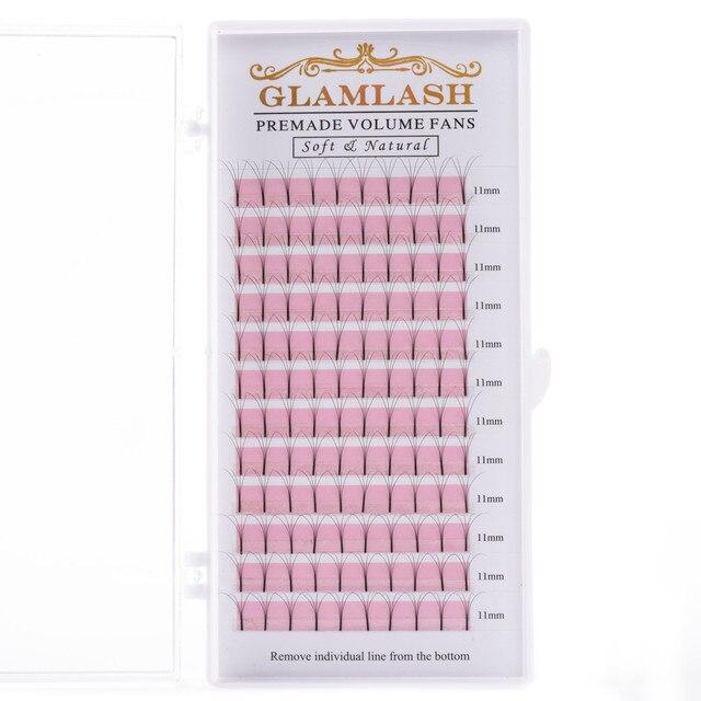 GLAMLASH 2D 3D 4D 5D 6D Long Stem False Lashes Premade Russian Volume Fans Faux Mink Premade Eyelash Extensions Makeup Cilios 6