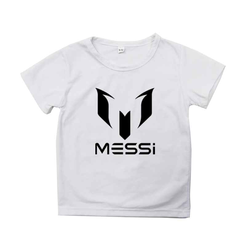 Купить футболка с суперфутбольной звездой месси детский хлопковый топ