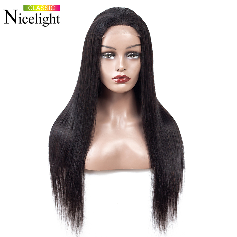 Straight Wigs Human Hair 4X4 Lace Closure Wig Nicelight Peruvian Hair Wigs Lacewigs Human Lace Wig Remy Hair Lace Wig Remy Hair