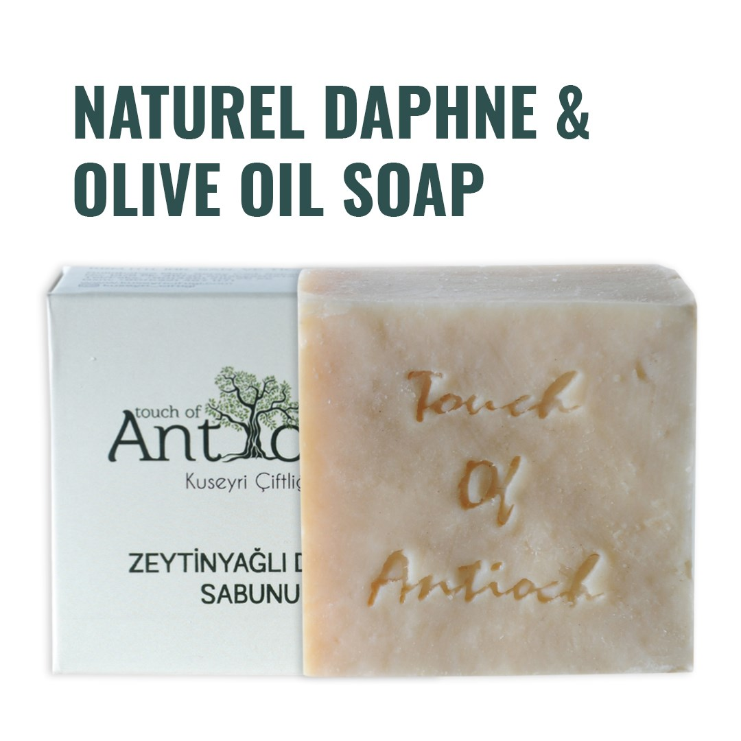Turkish Natural Daphne & Olive Oil Soap antibacterial Deep Cleansing Face Hair Skin Care Bath Eczema Treatment Hand Made