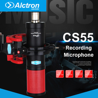 Alctron CS55 Recording Microphone Large Diaphragm Condenser Mic Microfono with Shock Mount