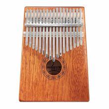 17 Key Kalimba Mahogany Thumb Finger Piano Sanza 17 keys Solid Wood Finger Piano Portable Instrument KLB-17 thumb piano portable beginner instrument thumb piano 10 tone kalimba 10 fingers finger piano wear resistant