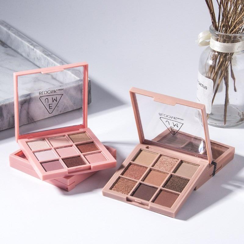 9 Color Nude Shining Eyeshadow Matte Makeup Glitter Pigment Smoky Eye Shadow  Waterproof Cosmetics Lasting-Effect Eye Shadow