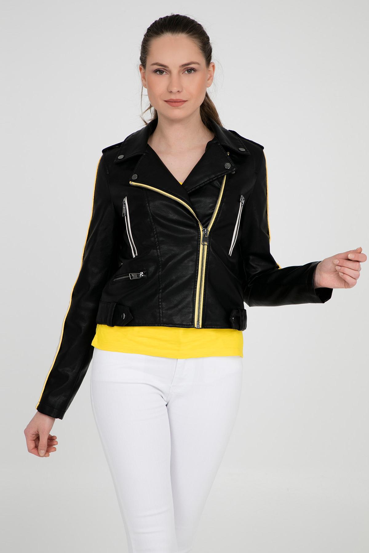 Jacket Vero WOMEN Faux-Leather Fashion Short 10209255 Vmina