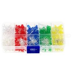 300pcs 3mm 5mm 5 Colors LED Light Emitting Diode Assorted Kit