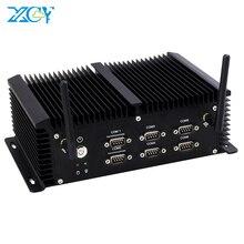 พัดลมไร้ใบพัดIntel Core I5 4200U Mini PC 6 * RS232/422/485 4 * USB 3.0 4 * USB2.0 2 * LAN HDMI VGA WiFi 4G LTE Industrial Embeddedคอมพิวเตอร์