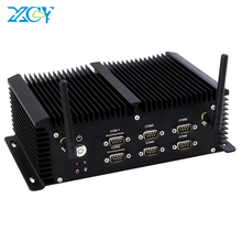 Mini PC sans ventilateur Intel Core i5 4200U 6 * RS232/422/485 4 * USB 3.0 4 * USB2.0 2 * LAN HDMI VGA WiFi 4G LTE ordinateur intégré industriel