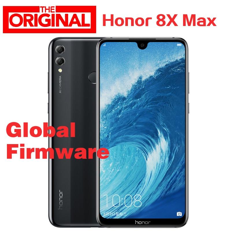 Оригинальный Смартфон Honor 8X Max, Snapdragon 660 восемь ядер, 7,12 дюйма, большой экран, OTA обновления, 4900 мАч, 6 ГБ 64 ГБ