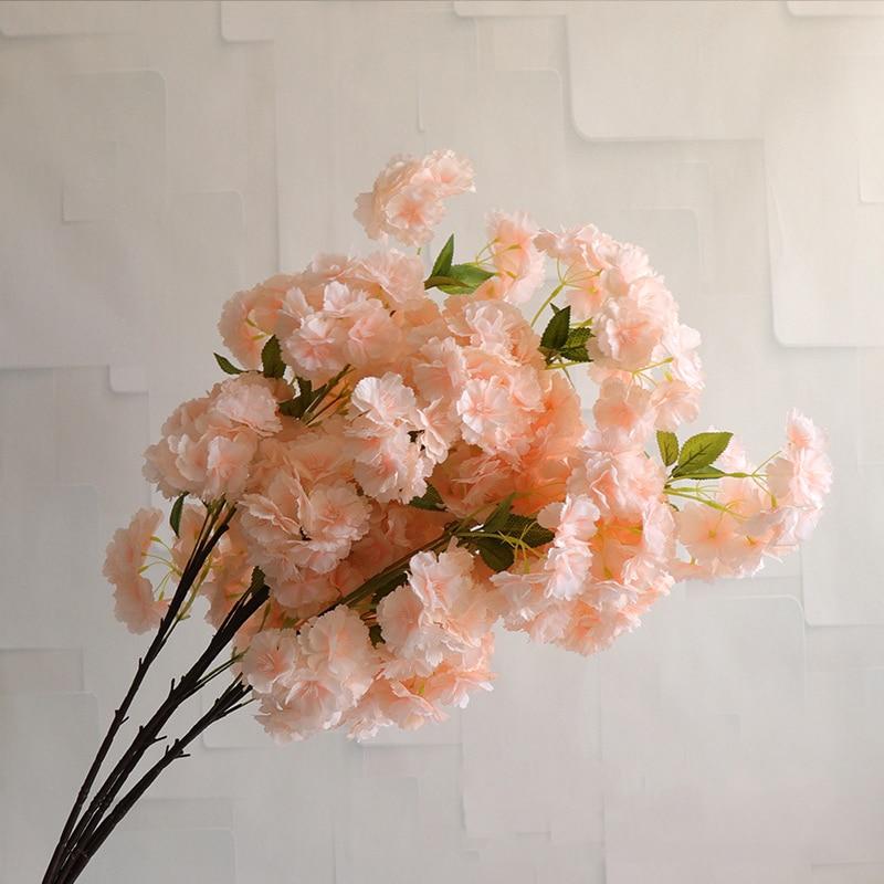 1 шт искусственный шелк вишня розовый вишни филиал свадебная АРКА дома вечерние украшения белый искусственный цветок DIY