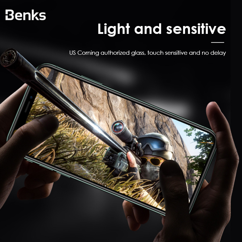 Image 2 - Benks Corning HD Glass 3D XPRO Full Cover Screen Protector Tempered Glass For iPhone X XS 11 Pro MAX XR 9H Hardness ProtectivePhone Screen Protectors   -