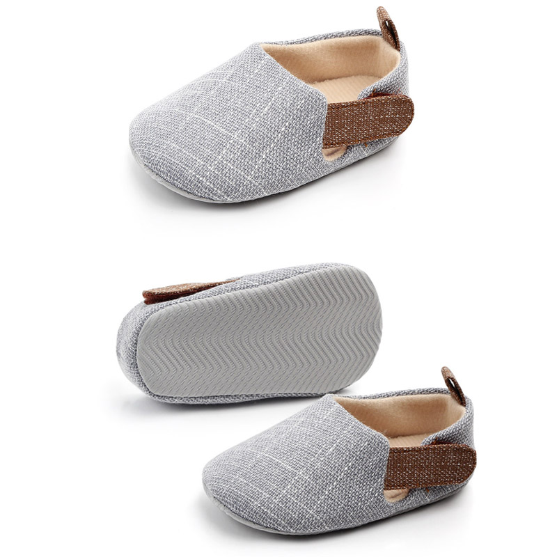 Non-slip Baby Toddler Shoe Casual Style Infant Toddler Shoe Soft Sole Baby Canvas Shoe Hemp Solid Infant Shoes Newborn