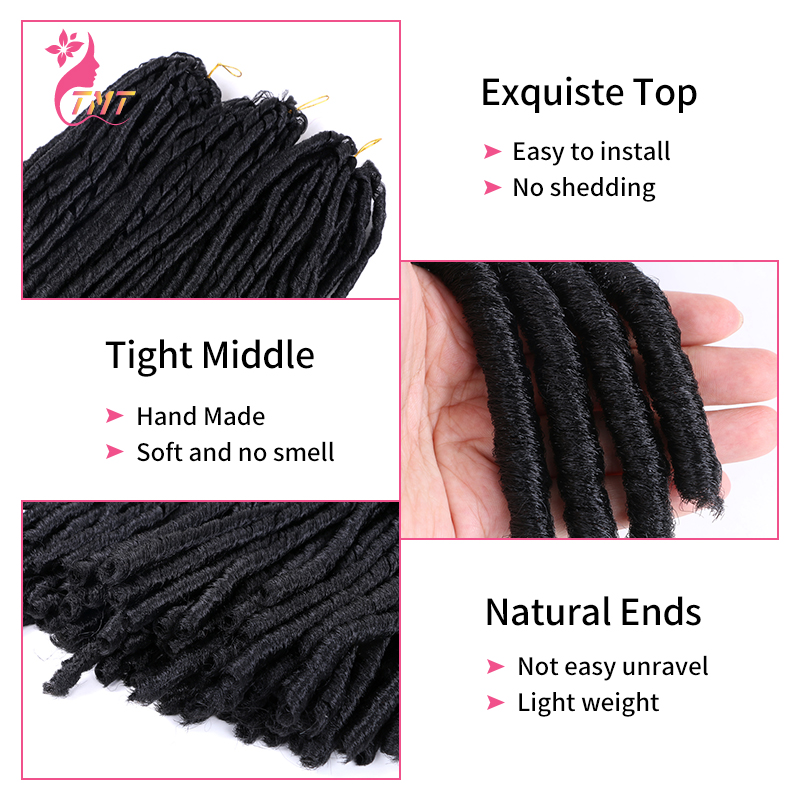 14 Polegada sintético crochê trança cabelo macio