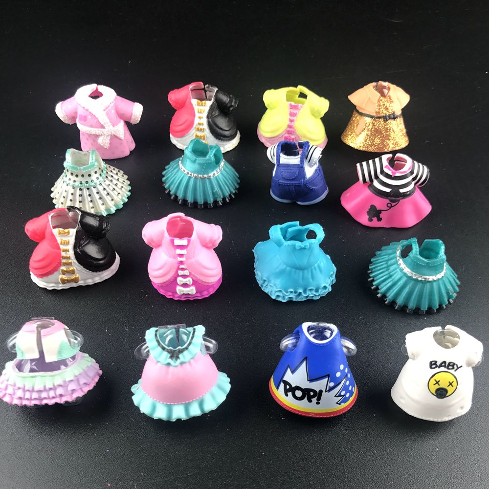 1Pc Original Beautiful Doll Clothes/Shoes/Glass For DIY LoLs Big Doll Figure Toy Accessories Toy Decorations Products New