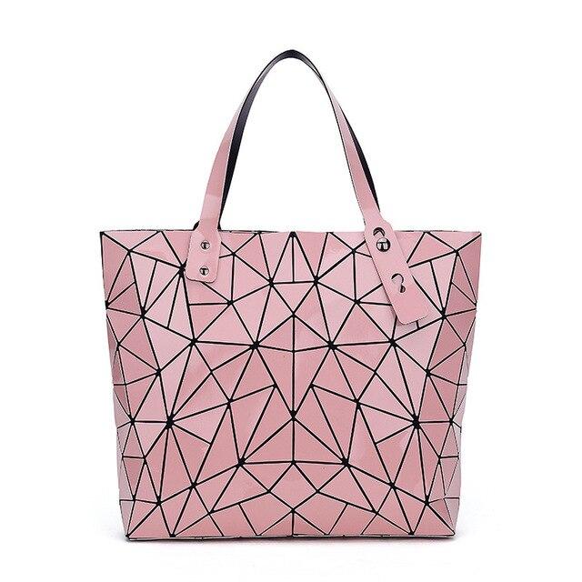 WSYUTUO Handbag Female Folded Ladies Geometric Plaid Bag Fashion Casual Tote Women Handbag Shoulder Bag 3