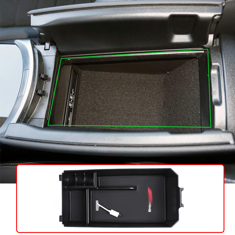 Car Armrest Console Central Storage Box For Mercedes Benz C Class W204 W205 2008-2020 Interior Accessories For GLC Class 16-20