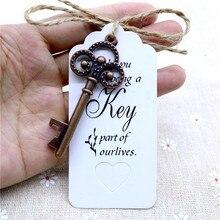 מתכת פליז שלד מפתח בירה בקבוק פותחן 50pcs מסיבת חתונה טובות בציר עתיק מתנות צד אורחים קישוטי DIY