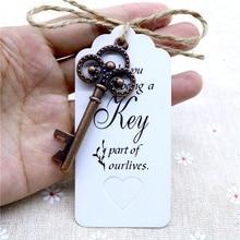 Metal Brass Skeleton Key Beer Bottle Opener 50pcs Wedding Party Favors Vintage Antique Gifts for Guests Party DIY Decorations