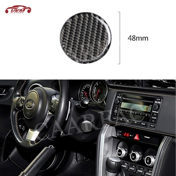 Carbon Fiber Car Steering Wheel Stalk Power Button Trim Sticker Cover For Toyota GT86 FT86 ZN6 Subaru BRZ 2013-2017 image