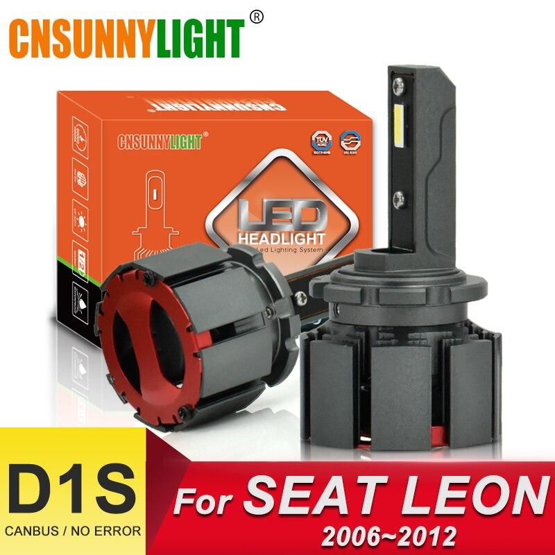 CNSUNNYLIGHT Canbus LED D1S ampoules de phare de voiture 10000Lm 70 w/paire bonne Vision d'éclairage pour SEAT LEON 1P1 bi-faisceau lampe automobile