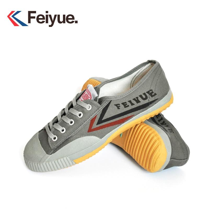 Grey Chinese Kung Fu Wushu Tai Chi Feiyue Shoes Men's Martial Art Taekwondo Sneakers Breathable Sneakers Parkour Shoes Wing Chun