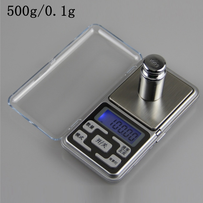 Stainless steel digital scale high precision portable mini pocket electronic jewelry