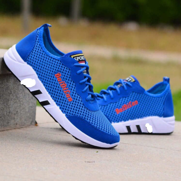 2019 Summer Breathable Mesh Casual Mesh Shoes Trend Of Fashion Lace-up Running Shoes Versatile Low Top Athletic Shoes