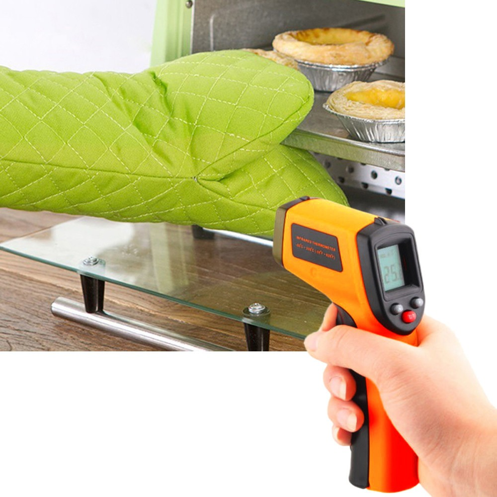 Tragbare digitale Nicht-Kontakt LCD IR Laser Infrarot Digitale Temperatur Thermometer Gun thermometer ofen thermometer #30