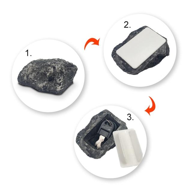 Free Shipping Garden Key Box Rock Hidden Hide In Stone Security Safe Storage Hiding Drop shipping Mini Safe Box Mni locker 6