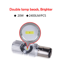 Double eye energy saving car bulb electric lamp motorcycle led headlight BA20D H6 interface