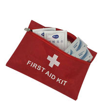 Free shipping 9 Piece Small First Aid Emergency Kit Cycling Running Car Travel Bag Handy
