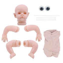 12 pouces vinyle Reborn Kits de poupée bricolage non peint Reborn bébé poupée moule ensembles pièces jouet réaliste nouveau-né Reborn bébé bricolage pièces de poupée