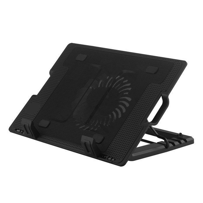 15.6 Inch Gaming Laptop Cooler 5 Adjustable Heights Two USB Port Mute Laptop Cooling Pad Notebook Stand For Laptop