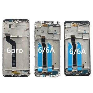 Image 2 - Xiaomi redmi 6 cep telefonu lcd + çerçeve Redmi 6 pro ekran 6A dokunmatik ekran Digitizer meclisi parçaları LCD ekran onarım