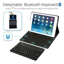 Leather Case with Bluetooth Keyboard For iPad 9.7
