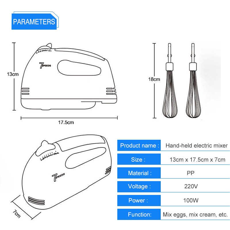 США Plug 7 скорость портативный миксер пищевые блендеры двойной венчик Электрический смеситель для яиц взбивальная машина для жидкого полуфабриката выпечка торта помощник приготовления пищи