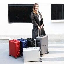 """حقيبة سفر كاريالوف 20 """"24"""" 26 """"29 بوصة من الألومنيوم اللامع حقيبة سفر ذات علامة تجارية فاخرة حقيبة سفر على شكل عربة على عجلات"""