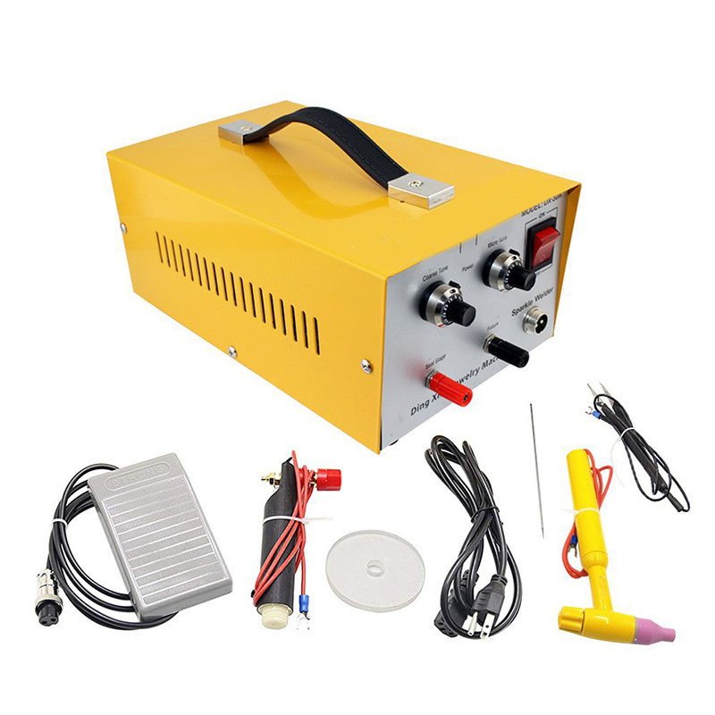 30A Adjustable Pulse Spot Welding Machine Jewelry Spot Welding Machine Gold And Silver Necklace Professional Welding AC220V/110V