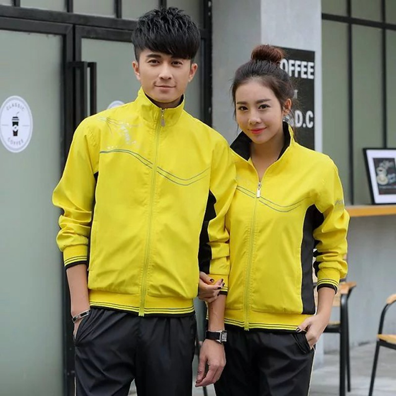 Couples Sports Clothing Set Men And Women New Style Leisure Sports Suit Men's Spring And Autumn School Uniform Groups Class Clot