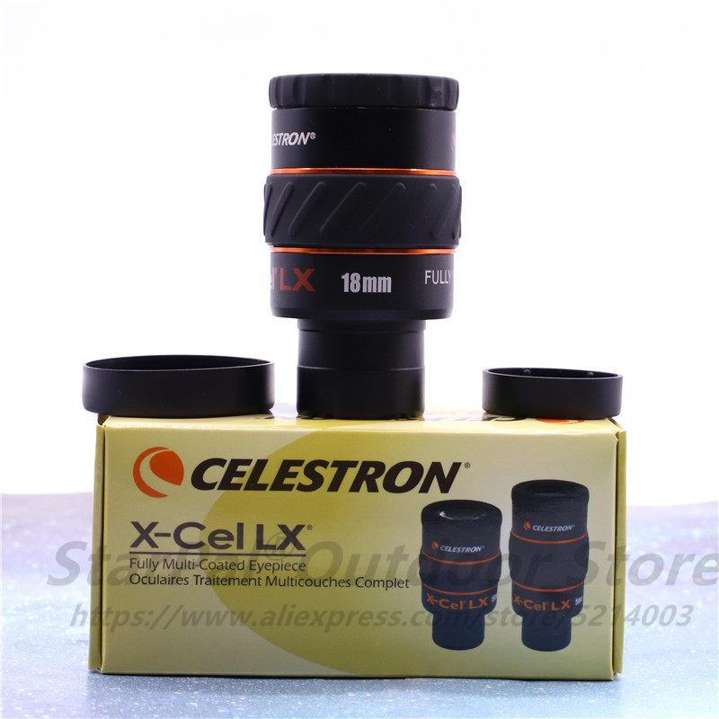 Celestron X-CEL LX 2,3/5/7/9/12/18/25 мм 2X/3X окуляр, 60 градусов, телескопический широкоугольный луковистый окуляр 1,25 дюйма