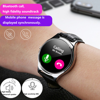 HETNGSYOU Smart Watch Men Full Round Touch Screen Bluetooth Dial Call Smart Watches IP67 Waterproof Strap Replaceable Smartwatch