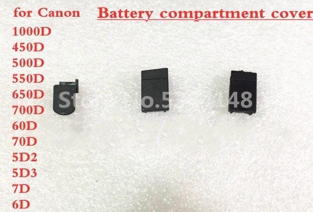 Nouveau couvercle de porte de la batterie Base inférieure en caoutchouc pour Canon 5D 7D 5Dmark II 5D2 5Dmark III 5D3 6D 600D 500D 60D pièce de réparation de caméra