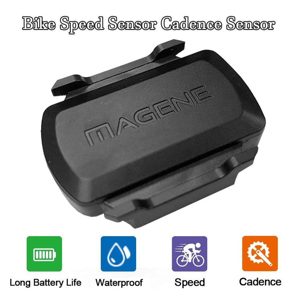 Prędkość roweru czujnik i czujnik rytmu dual-mode bezprzewodowy pedałowania czujnik prędkości 2 w 1 dla GARMIN/Bryton/igpsport komputer rowerowy