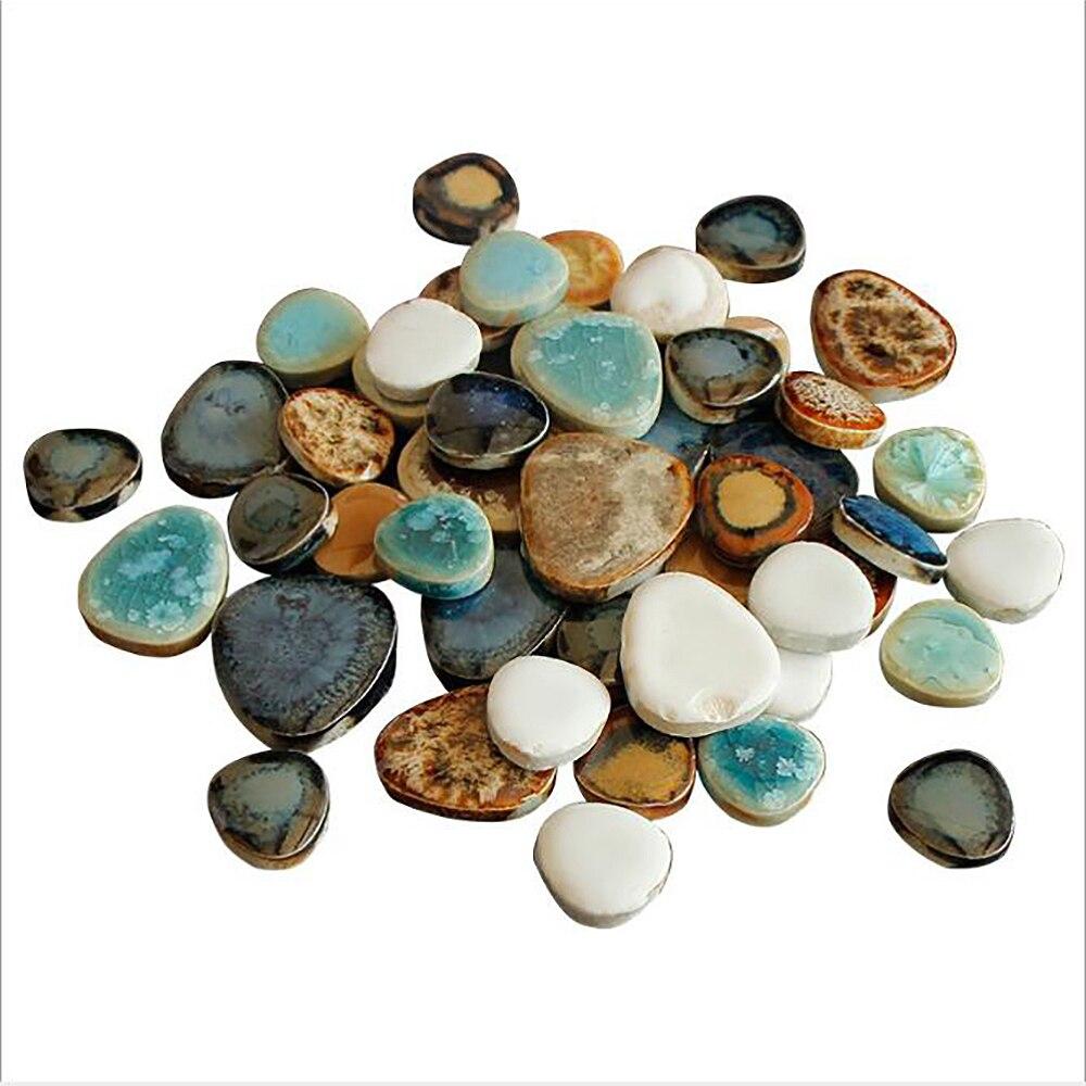 100g padrão de mármore cerâmica mosaico de vidro materiais diy fragmentos de pedra cor misturada mosaico arte decorativa suprimentos