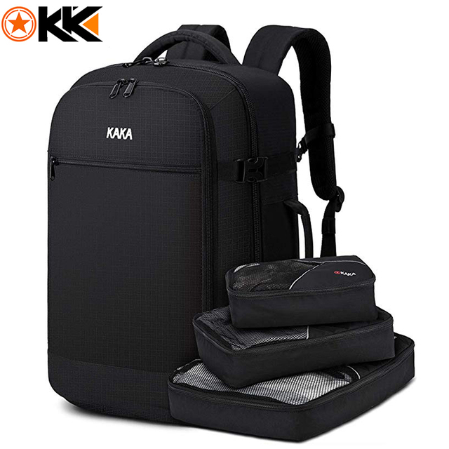 2019 Travel Overnight Backpack,45L FAA Flight Approved Weekender Bag Carry on Backpack GREEN Backpack with 3 Cubes