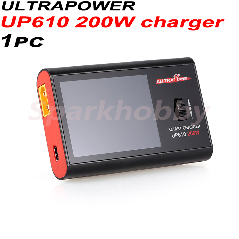 1PC Ultrapower UP610 200W Charger Li-ion/LiPo/LiFe/LiHV 1-6S NiCd/NiMH 1-16S Pb 1-12S smart balance charger for RC Drones tools image