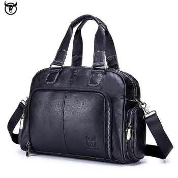 High quality Messenger Bag Genuine Leather Men Shoulder Bag Vintage Male Casual Totes Handbag Cowhide Crossbody Bag Men Travel