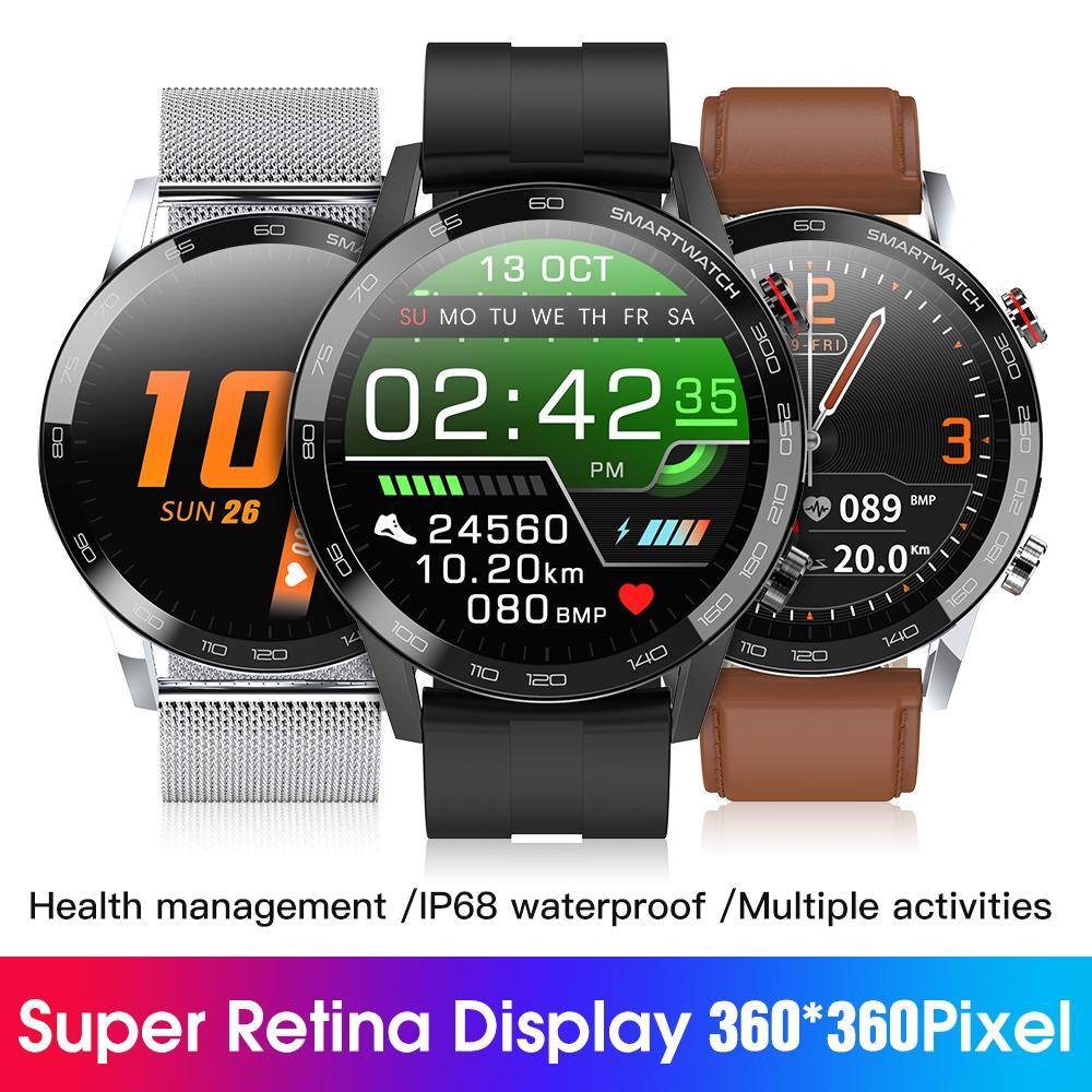 2020 New L16 Smart Watch Men ECG PPG Smartwatch IP68 Bluetooth Phone Watch Blood Pressure Heart Rate Fitness Tracker VS IWO 12